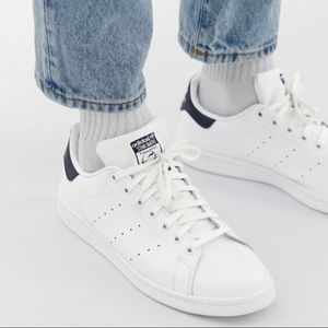 White/Adidas Oiginals Stan Smith leather trainers